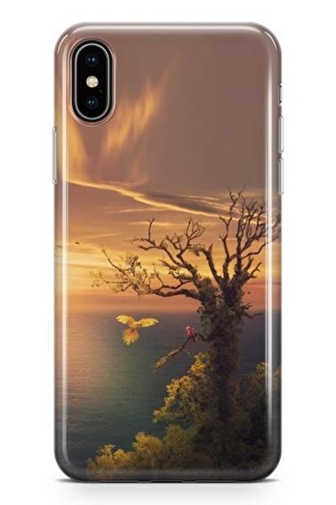 Lopard iPhone Xs Max Kılıf Silikon Arka Kapak Koruyucu Deniz Gün Batımı Desenli Full HD Baskılı Renkli